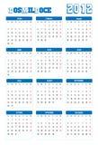 Kalender 2012 Stock Foto's