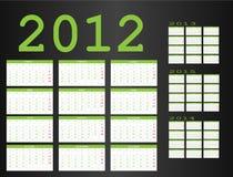 kalender 2012 2015 till Arkivbilder