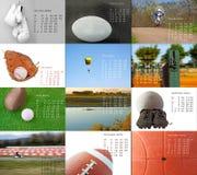 Kalender 2012 Royalty-vrije Stock Foto's