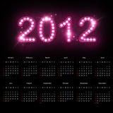 Kalender 2012 Stockfotografie
