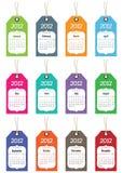 kalender 2012 stock illustrationer