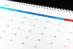 Kalender 2012 Royalty-vrije Stock Fotografie