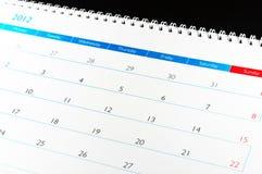 Kalender 2012 Lizenzfreie Stockfotografie