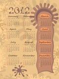 Kalender 2012 auf Flecken. Lizenzfreie Stockfotografie