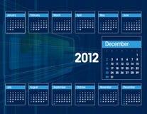 Kalender 2012. Dezember. lizenzfreie abbildung