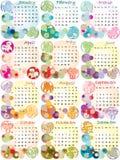Kalender 2012 met dierenriemtekens Royalty-vrije Stock Fotografie
