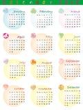 Kalender 2012 met dierenriemtekens Stock Fotografie