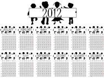 Kalender 2012 mit Kindern Stockfotos