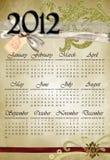 Kalender 2012 No2 Stock Afbeeldingen