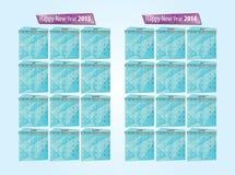 Kalender 2013, 2014 Stock Foto's
