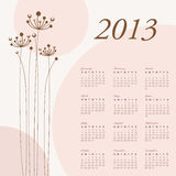 Kalender 2013 Stockfotos