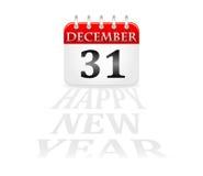Kalender 31 december nieuw jaar Royalty-vrije Stock Foto's