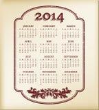Kalender 2014 royaltyfri illustrationer