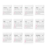 2014 Kalender stock illustratie