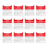 Kalender 2014 Royaltyfri Foto