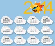 Kalender 2014. stock illustrationer