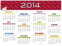 Kalender 2014 stock illustratie
