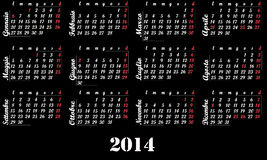 Kalender 2014 Stockfotos