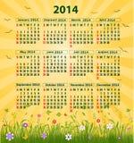Kalender 2014 vektor illustrationer