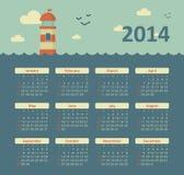 Kalender 2014 stock abbildung