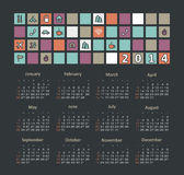 Kalender 2014 lizenzfreie abbildung