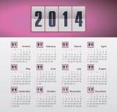 Kalender 2014 Lizenzfreies Stockbild