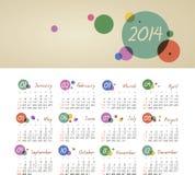 Kalender 2014 Lizenzfreie Stockbilder