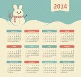 Kalender 2014 Stockfotografie