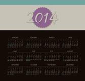 Kalender 2014 Lizenzfreie Stockfotografie