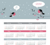 Kalender 2014 Stockbilder