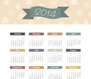 Kalender 2014 Stockbild