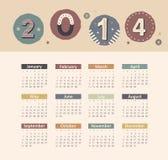 Kalender 2014 Lizenzfreies Stockfoto