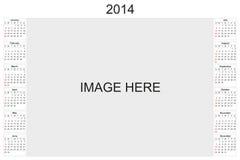 Kalender 2014 Stock Afbeeldingen