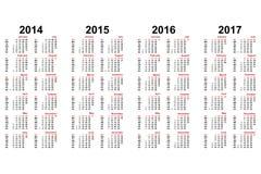 Kalender royaltyfri illustrationer