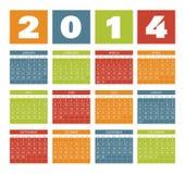 Kalender 2014 Arkivbild