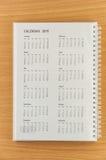 2015 Kalender Royalty-vrije Stock Fotografie