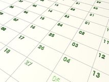 kalender 3d Royaltyfri Bild