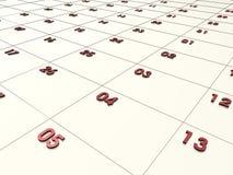 kalender 3d Royaltyfria Bilder