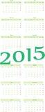 kalender 2015 Royaltyfri Bild