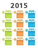 Kalender 2015 Arkivfoton