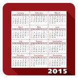 Kalender 2015_1 Stock Foto