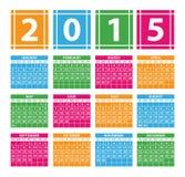 Kalender 2015 Royalty-vrije Stock Fotografie