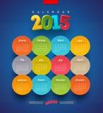 Kalender 2015 Stockfoto