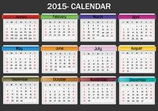 Kalender-2015 Royalty-vrije Stock Afbeelding