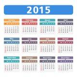2015 Kalender Stock Afbeelding