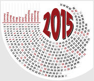 Kalender 2015_1 Lizenzfreies Stockfoto