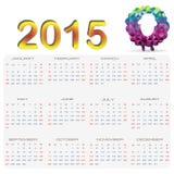 Kalender 2015 Arkivfoto