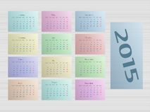 Kalender 2015 Royalty-vrije Stock Afbeelding