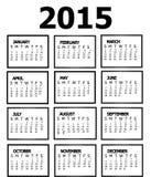 Kalender 2015 Arkivbild