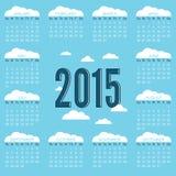 Kalender 2015 Royaltyfria Bilder